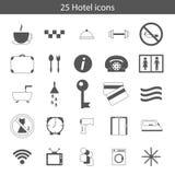 Reeks hotelpictogrammen Stock Fotografie