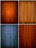 Reeks houten achtergronden. Vector Royalty-vrije Stock Afbeeldingen