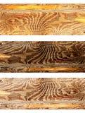 Reeks houten banners Royalty-vrije Stock Afbeeldingen