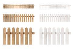 Reeks houten omheiningen Stock Afbeeldingen