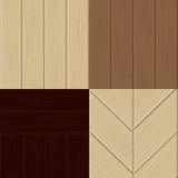 Reeks houten structuren. Stock Foto's