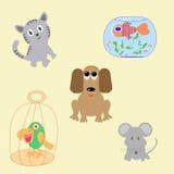 Reeks huisdieren Royalty-vrije Stock Afbeeldingen