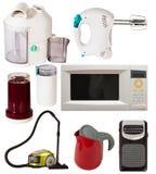Reeks huishoudapparaten Stock Afbeeldingen