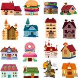 Reeks huispictogrammen Royalty-vrije Stock Afbeeldingen