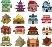 Reeks huispictogrammen Stock Afbeeldingen