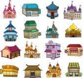 Reeks huispictogrammen Stock Foto