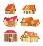 Reeks huizen Stock Afbeelding