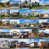 Reeks huizen Stock Foto
