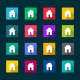 Reeks huizenpictogrammen Stock Afbeeldingen