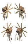 Reeks hulpmiddelen en instrumenten Stock Afbeeldingen
