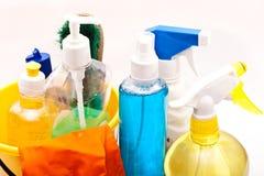Reeks hulpmiddelen om schoon te maken Stock Foto's