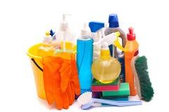 Reeks hulpmiddelen om schoon te maken Stock Afbeeldingen