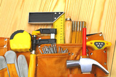 Reeks hulpmiddelen in riem Stock Foto