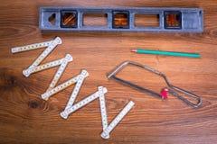 Reeks hulpmiddelen voor huisvernieuwing Stock Foto's