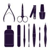 Reeks hulpmiddelen voor manicure Royalty-vrije Stock Afbeelding