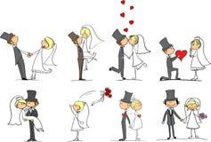 Reeks huwelijksbeelden vector illustratie