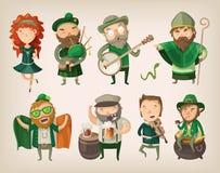 Reeks Ierse karakters Royalty-vrije Stock Afbeelding