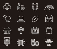 Reeks Ierse Pictogrammen of Symbolen royalty-vrije illustratie