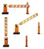 Reeks illustraties van de barrière stock illustratie