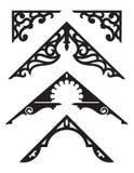 Reeks Illustraties van de Victoriaanse Peperkoek Architecturale Versiering royalty-vrije illustratie
