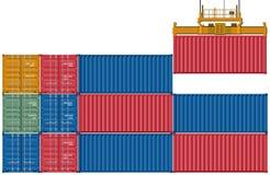 Reeks industriële containers Stock Foto's