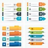 Reeks infographic malplaatjes royalty-vrije illustratie