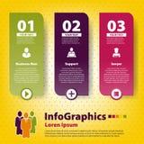 Reeks infographic op groepswerk Stock Afbeeldingen