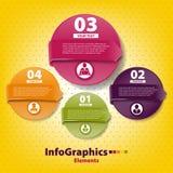 Reeks infographic op groepswerk Stock Foto's