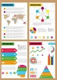Reeks infographic pamfletten, vooruitzichten Kan in verschillende aanwijzingen voor verkoop, marketing, economische afdelingen wo royalty-vrije illustratie