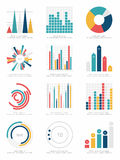 Reeks infographicselementen Royalty-vrije Stock Foto's