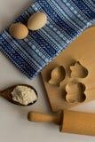 Reeks ingrediënten voor baksel worden gebruikt dat Royalty-vrije Stock Fotografie