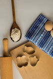 Reeks ingrediënten voor baksel worden gebruikt dat Stock Fotografie