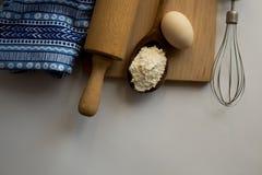 Reeks ingrediënten voor baksel worden gebruikt dat Stock Afbeeldingen