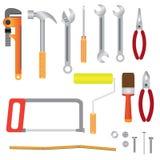 Reeks instrumenten voor vernieuwing. Stock Foto
