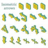 Reeks isometrische pijlen Stock Foto
