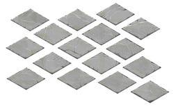 Reeks isometrische steenplaten Royalty-vrije Stock Foto