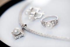 Reeks juwelen Royalty-vrije Stock Afbeeldingen