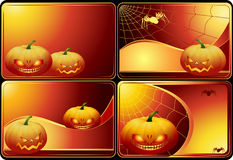 Reeks kaarten van Halloween stock illustratie