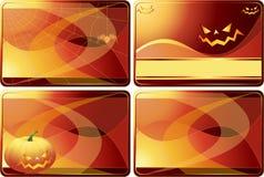 Reeks kaarten van Halloween vector illustratie