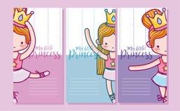 Reeks kaarten voor meisjes stock illustratie