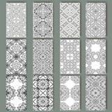 Reeks kaarten voor om het even welk soort ontwerp Patroon in retro stijl met Royalty-vrije Stock Afbeelding