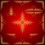 Reeks kaders van lijnen en punten worden gemaakt die Geschikt voor decoratie van kaarten Royalty-vrije Stock Afbeeldingen