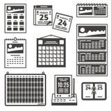 Reeks kalenderpictogrammen Royalty-vrije Stock Afbeelding