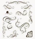 Reeks kalligrafische elementen Stock Foto