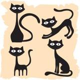 Reeks katten Royalty-vrije Stock Afbeelding
