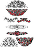 Reeks Keltische ontwerpelementen Royalty-vrije Stock Afbeelding