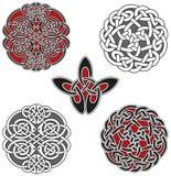 Reeks Keltische ontwerpelementen Stock Afbeelding