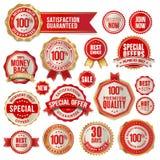 Reeks kentekens en stickers Royalty-vrije Stock Foto's