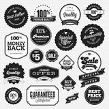 Reeks kentekens en stickers voor verkoop Stock Foto's