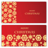Reeks Kerstmis en Nieuwjaarbanners Royalty-vrije Stock Foto